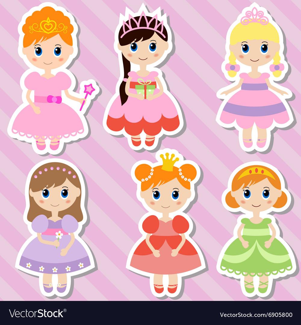 Big set of beautiful princesses