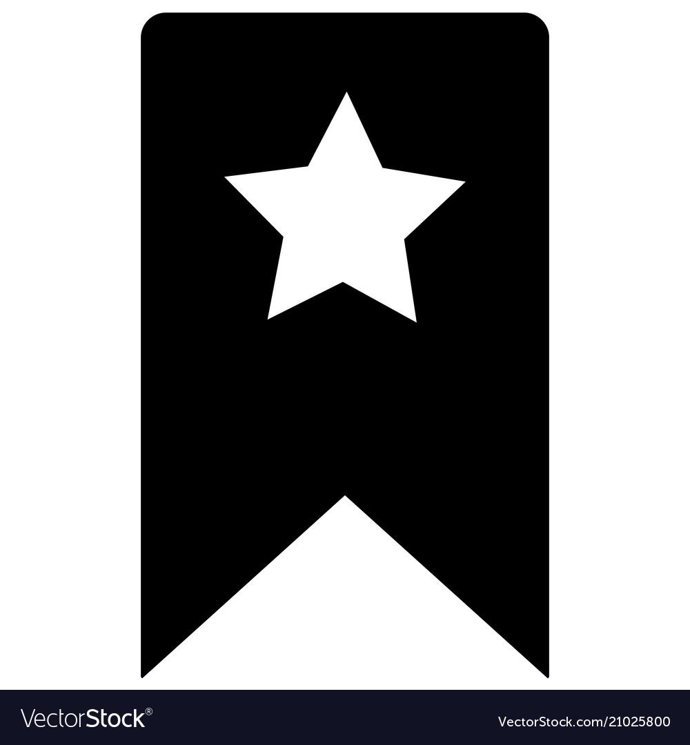 Bookmark icon on white background flat style