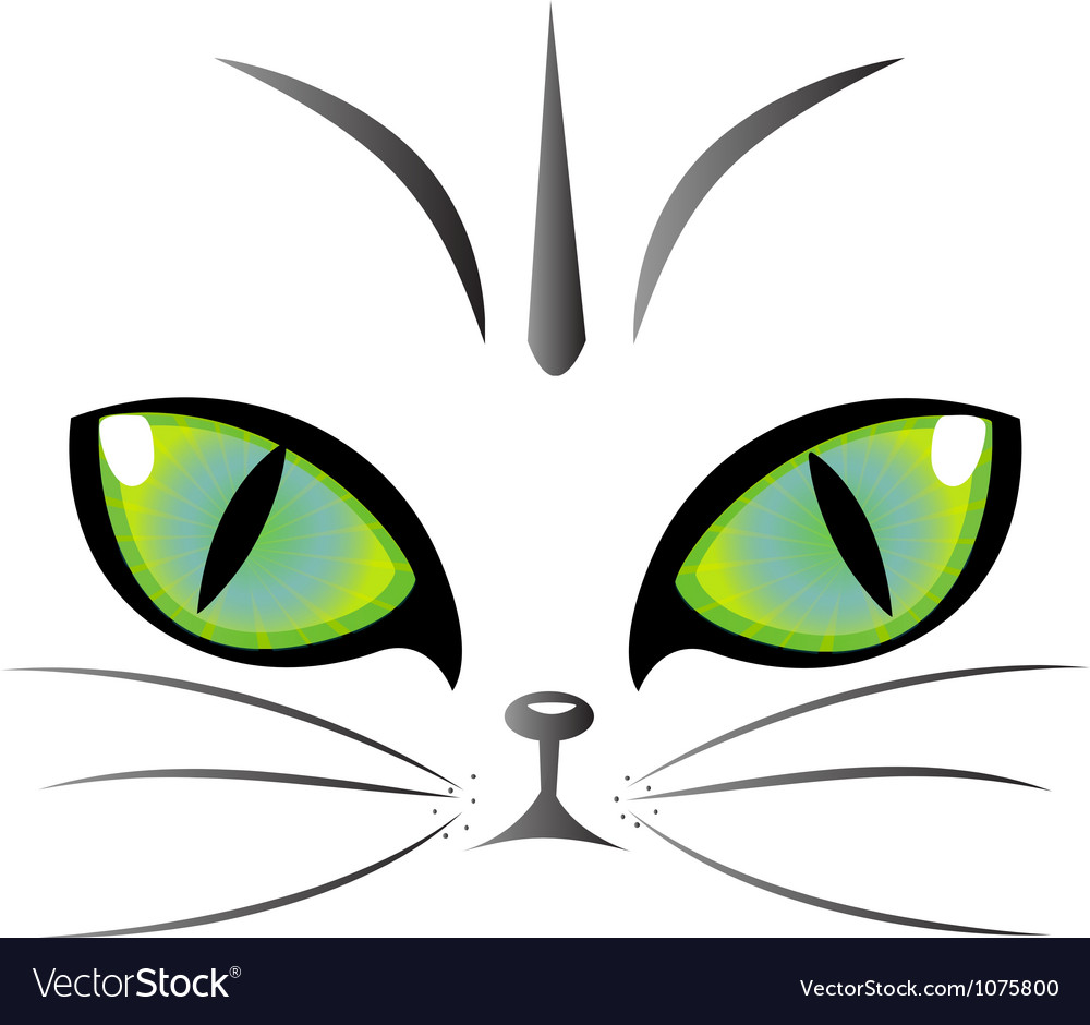 Cat eyes logo vector image