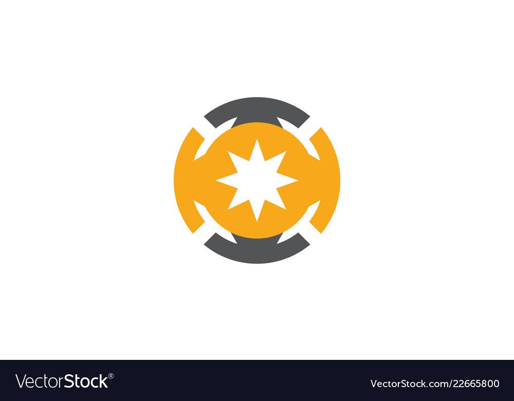 Circle star bright technology logo