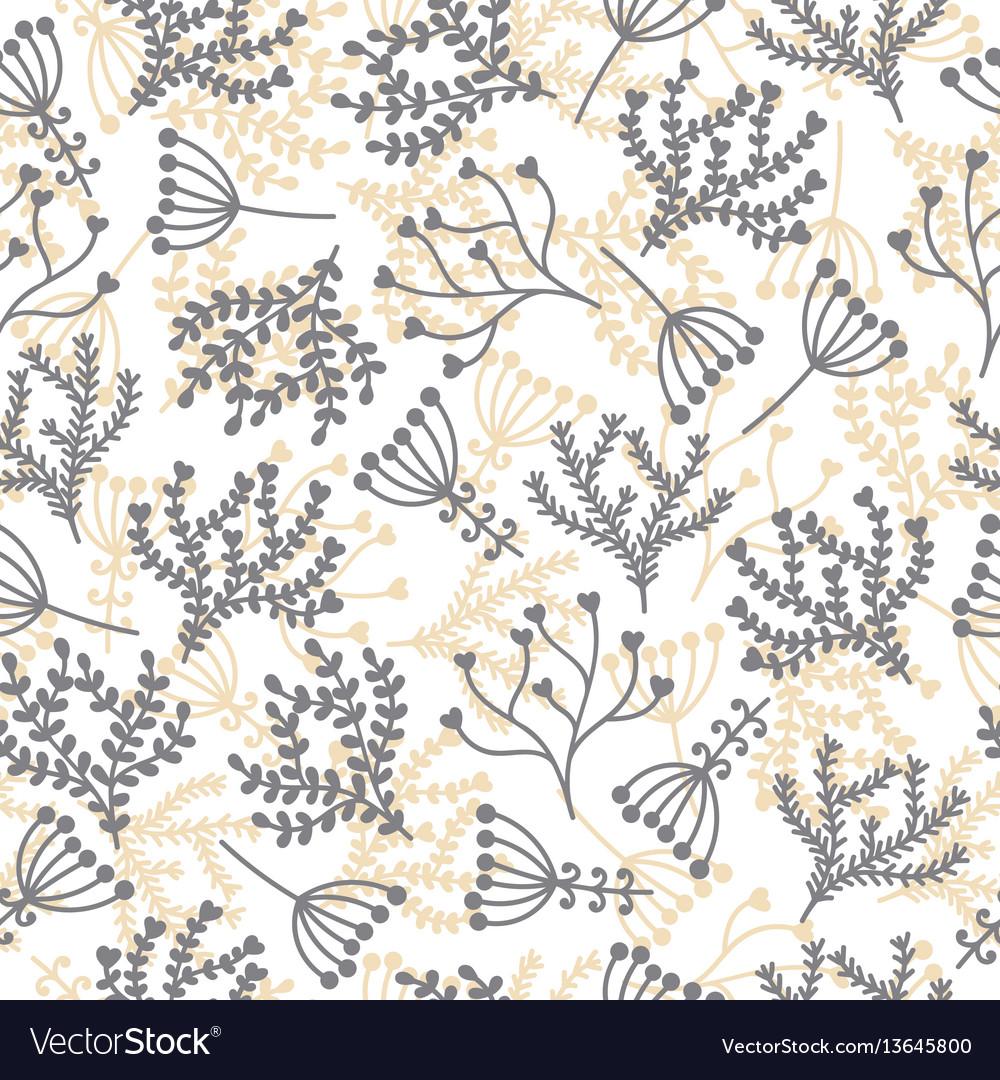 Cute seamless pattern floral stylish background