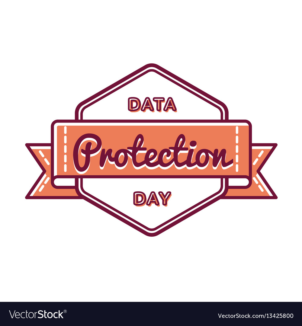 Data protection day greeting emblem