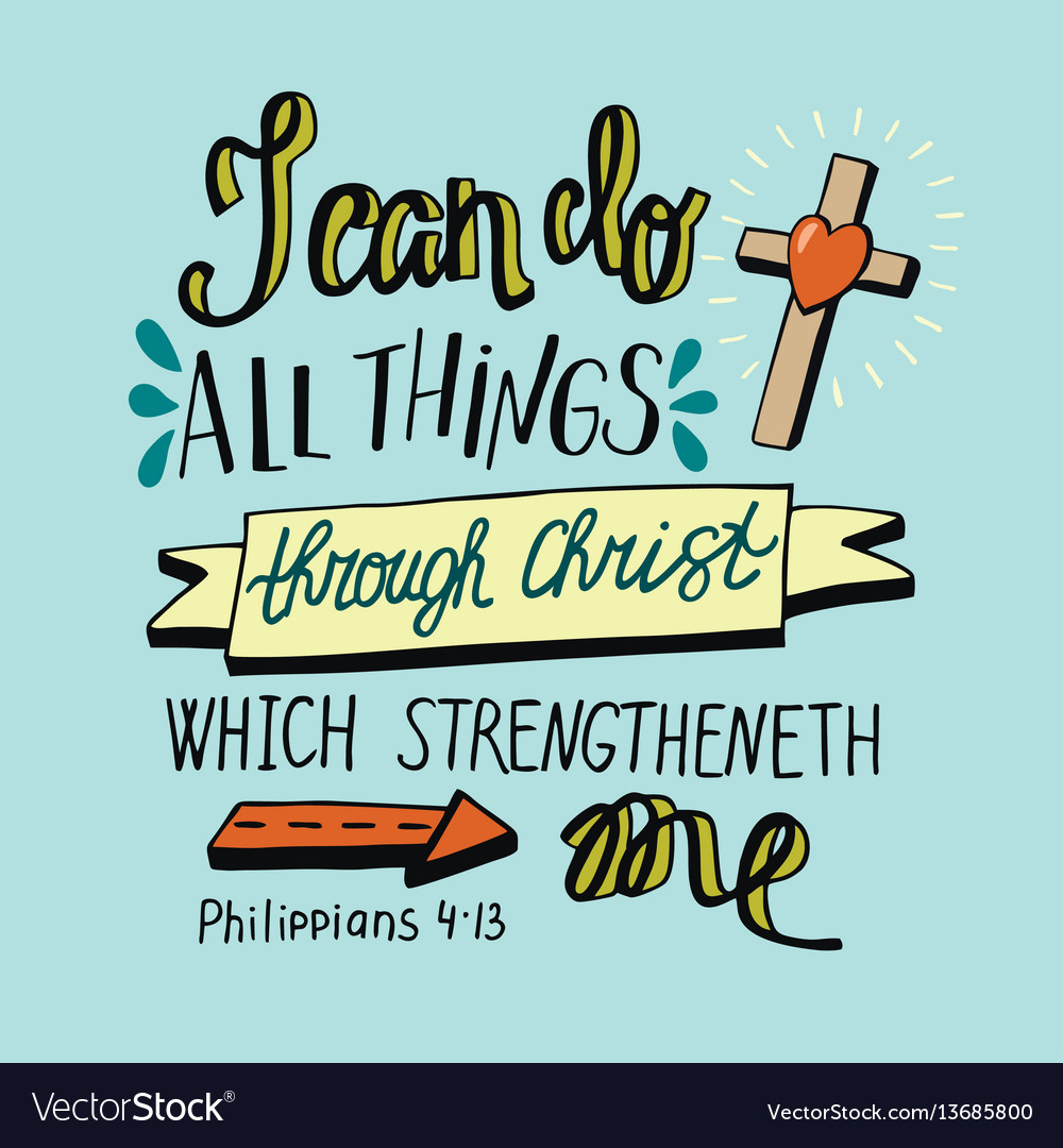 Hand lettering can all things through christ with