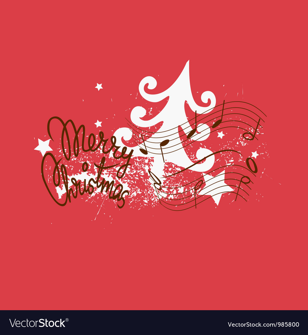 merry christmas song design vector image - Merry Christmas Song