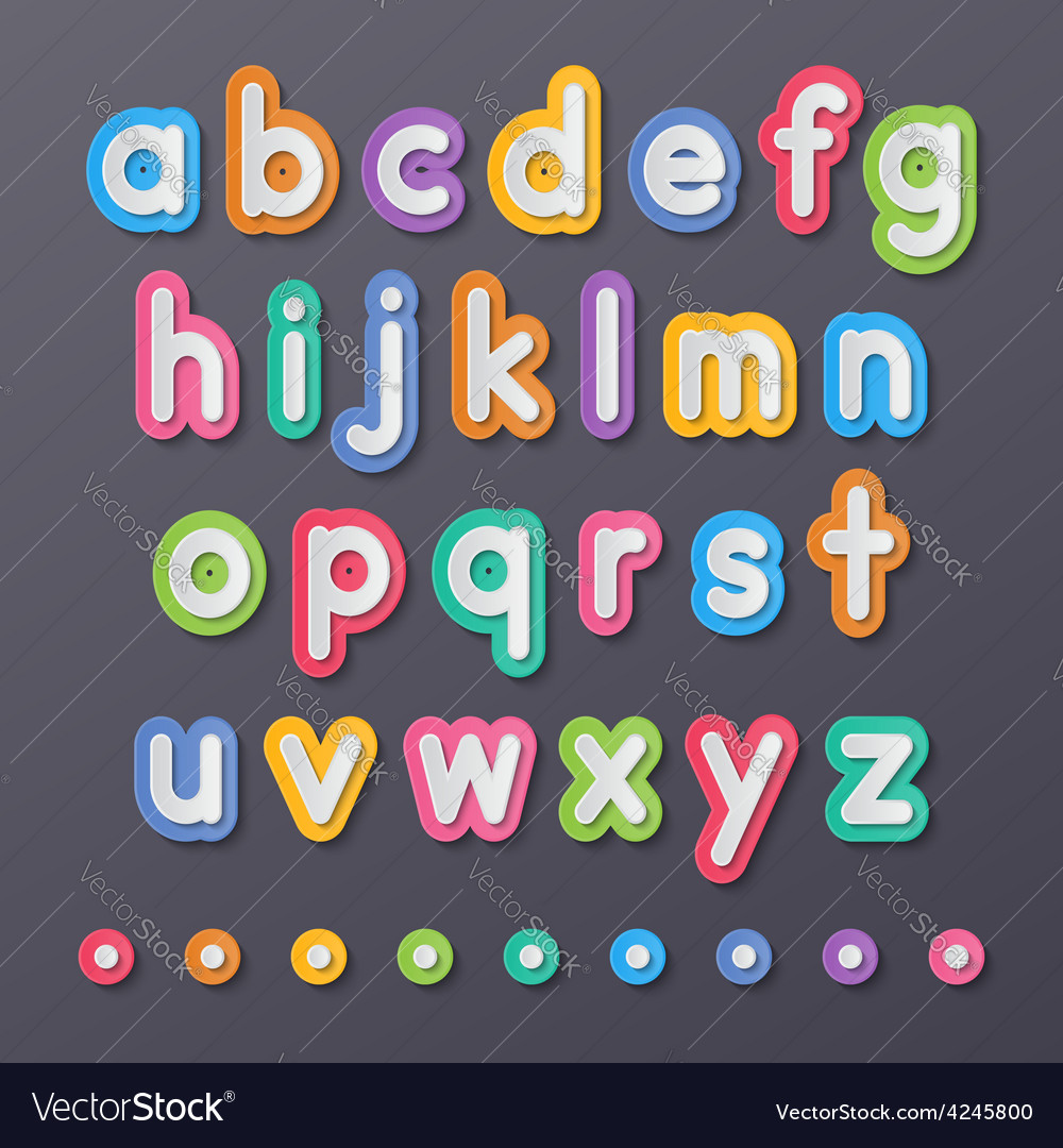 Paper small alphabet letters