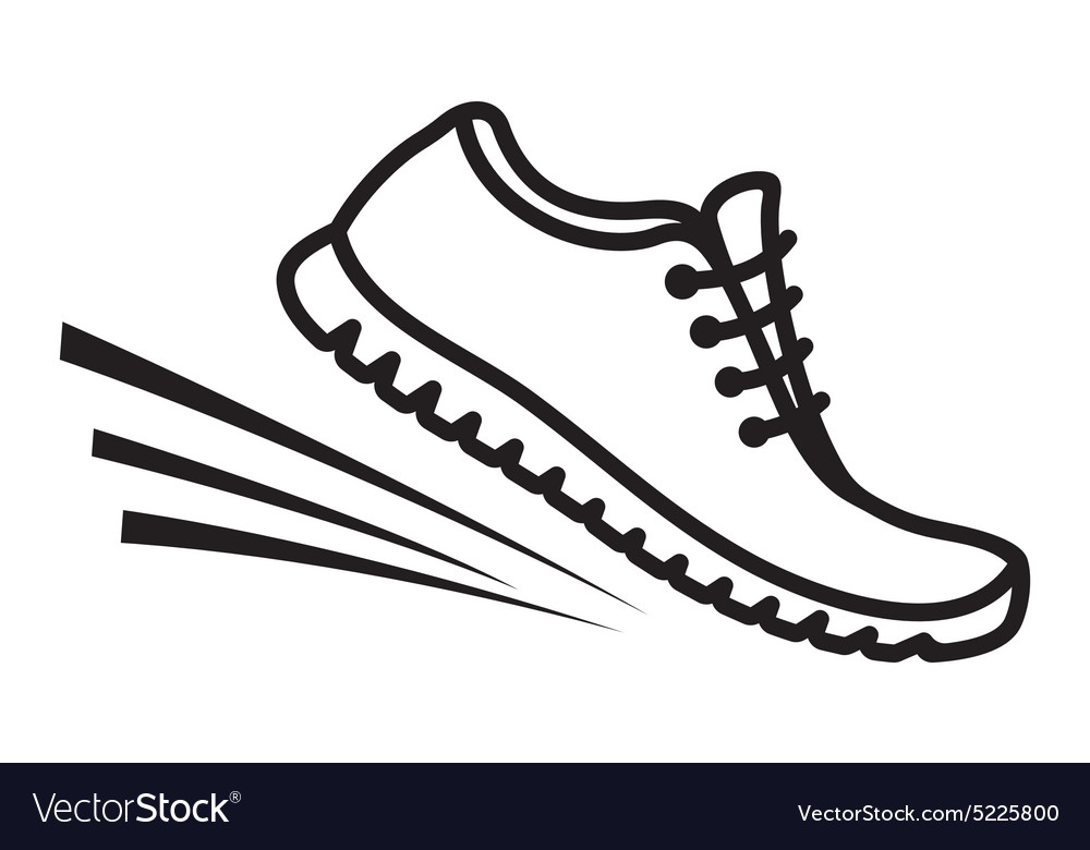 Running shoes icon4 vector image