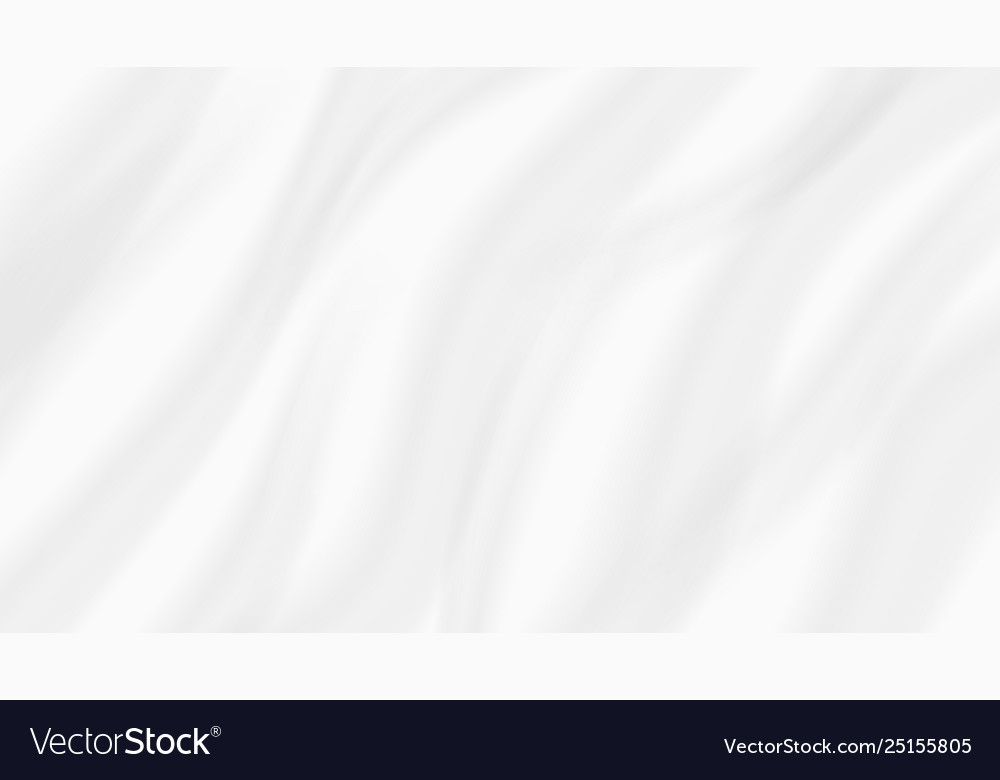 Abstract white background wavy silk fabric cloth