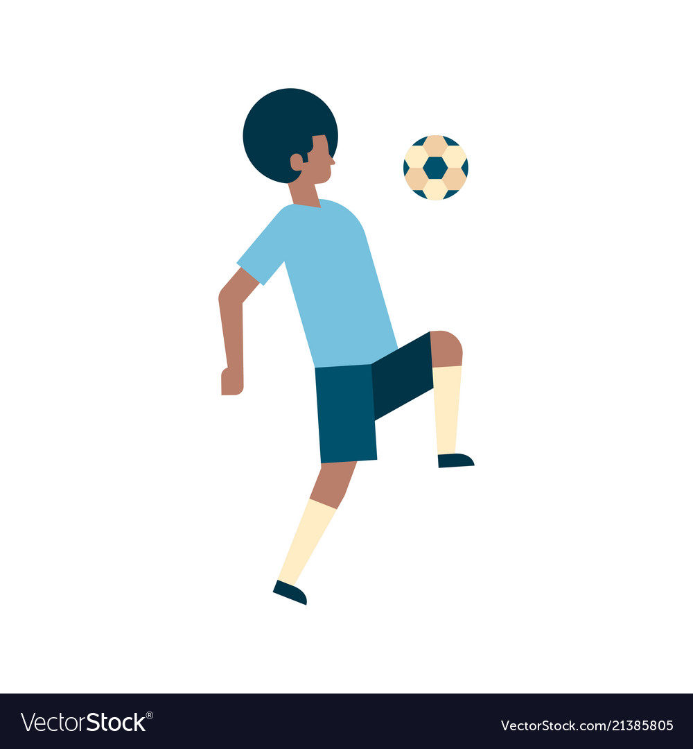 African american football player kick ball