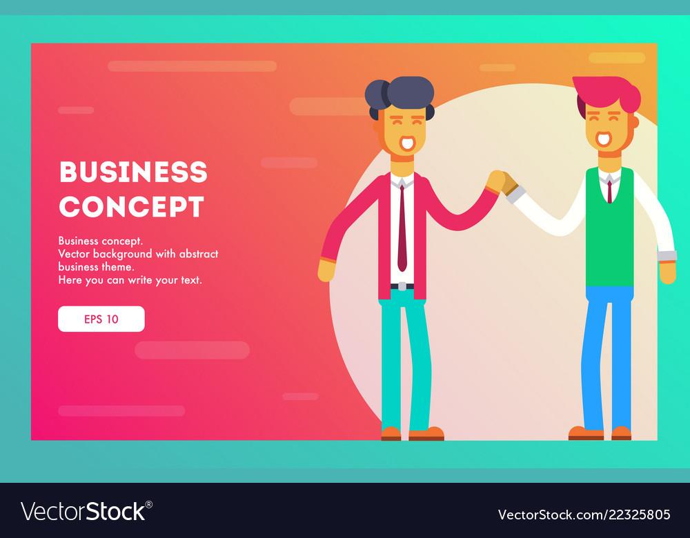 Businessmen greet each other business team