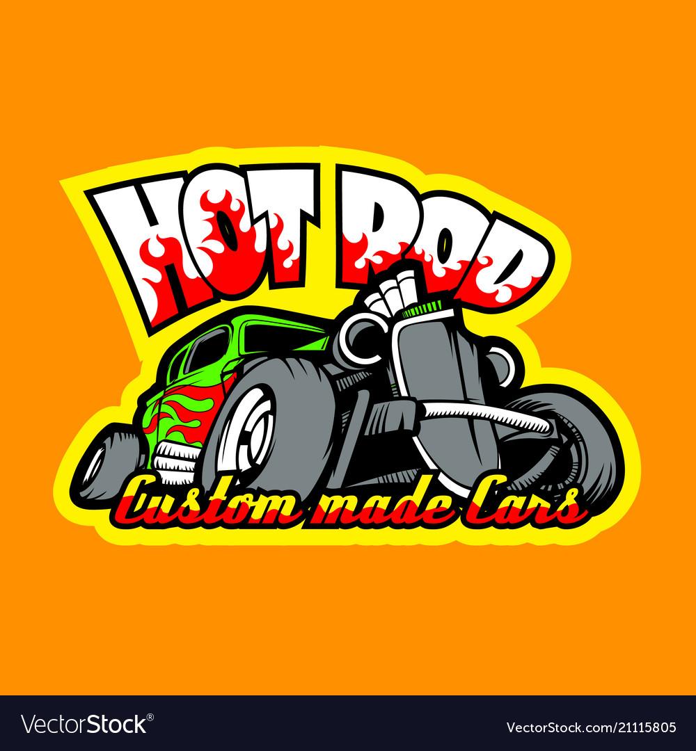 Hot rod custom made cars t-shirt print template