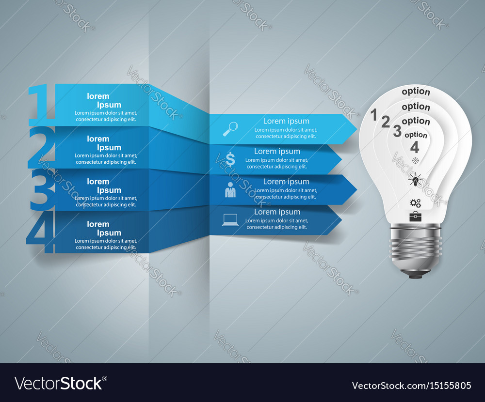 Infographic design bulb light icon royalty free vector image