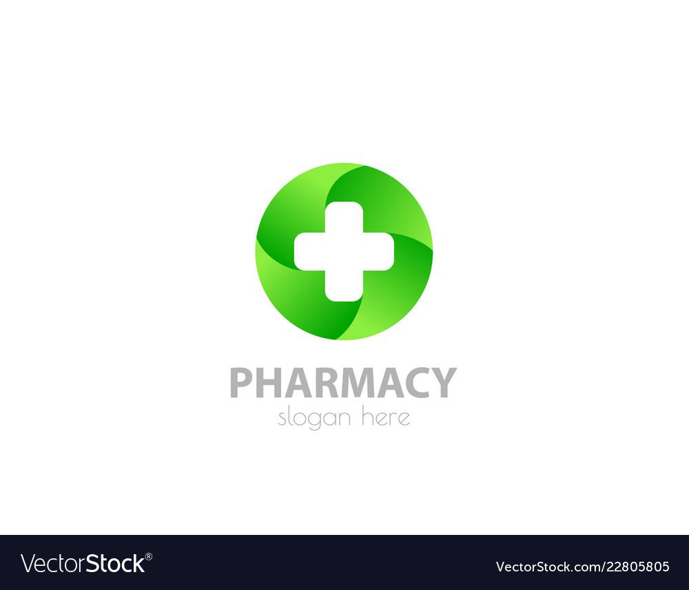 Medical cross logo pharmacy