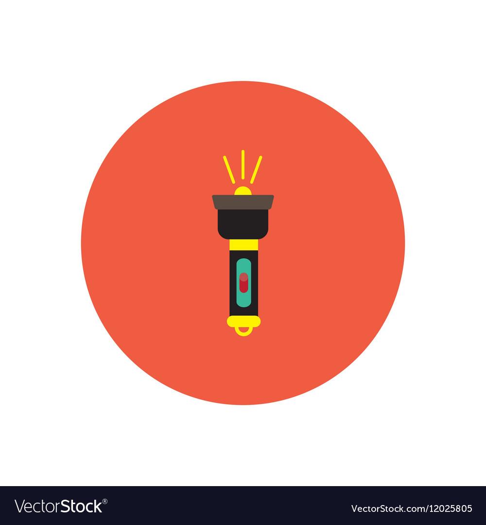 Stylish icon in circle handle electric flashlight vector image