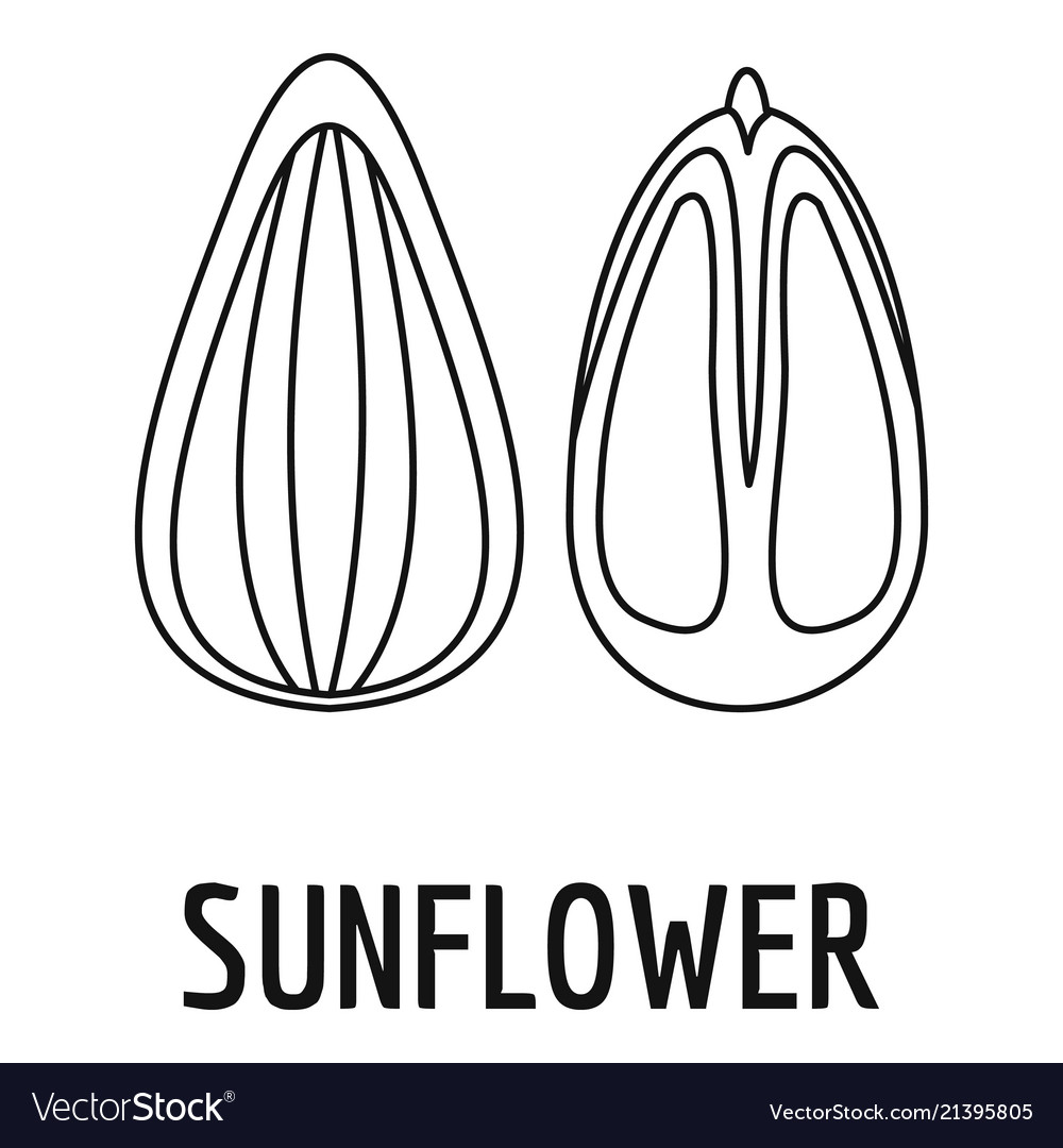 Sunflower seed icon outline style