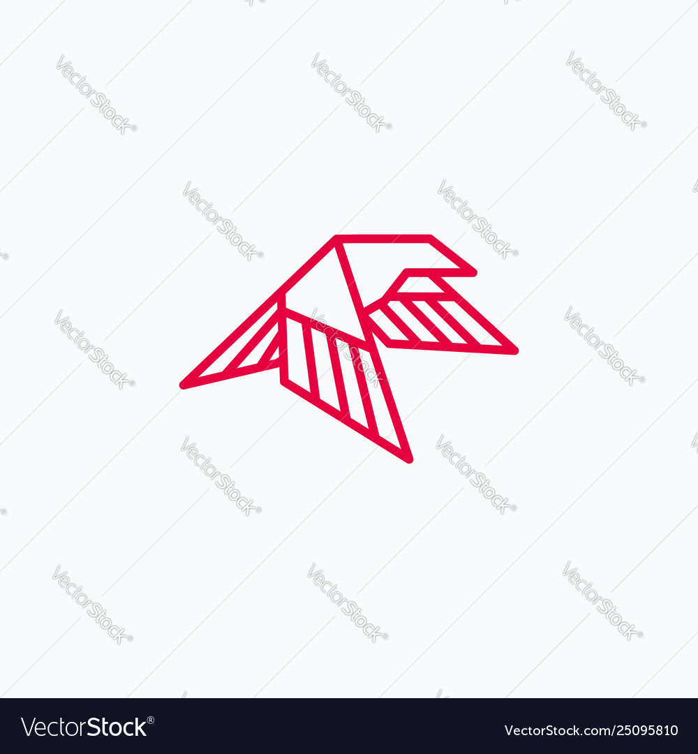 Eagle abstract template linear