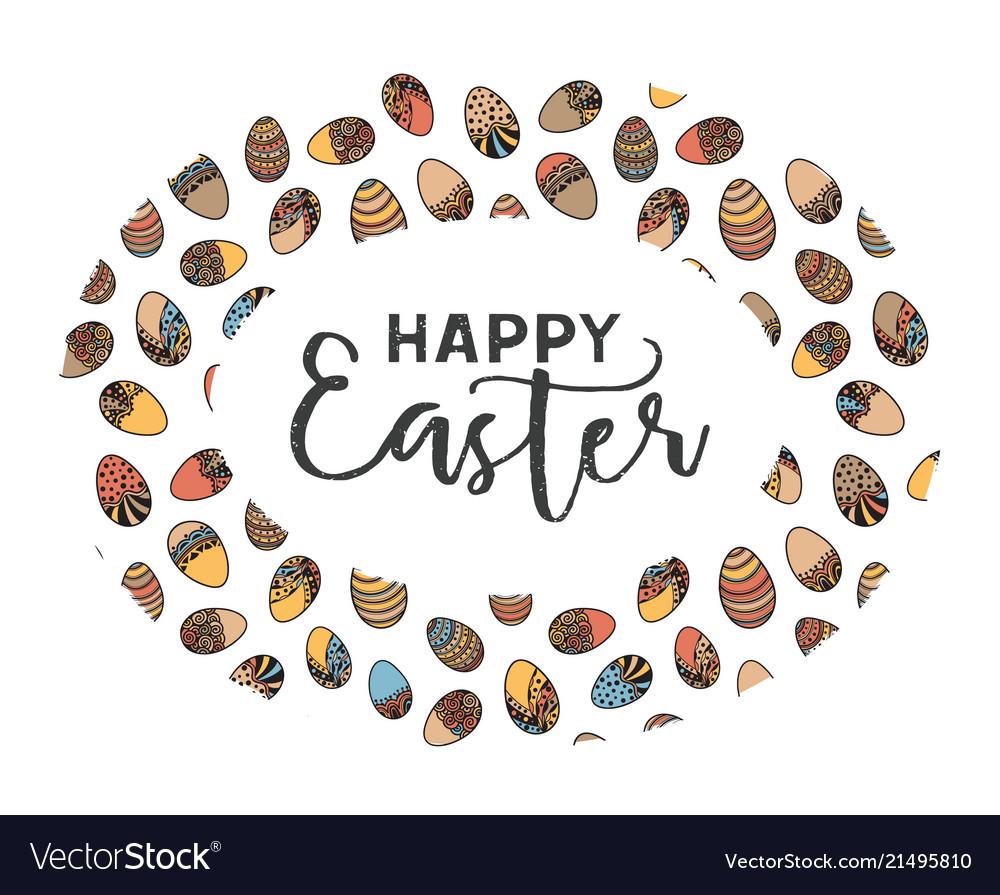 Easter doodle frame