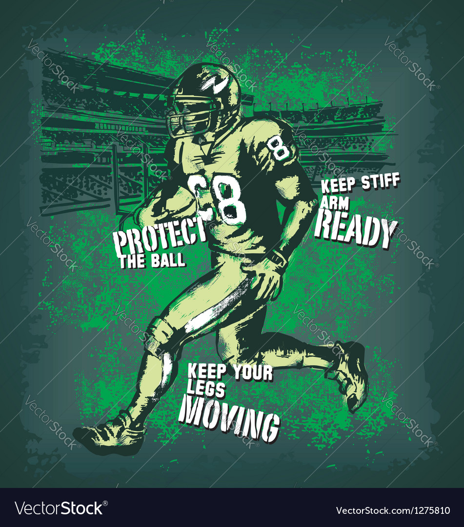 Football player Glow vector image