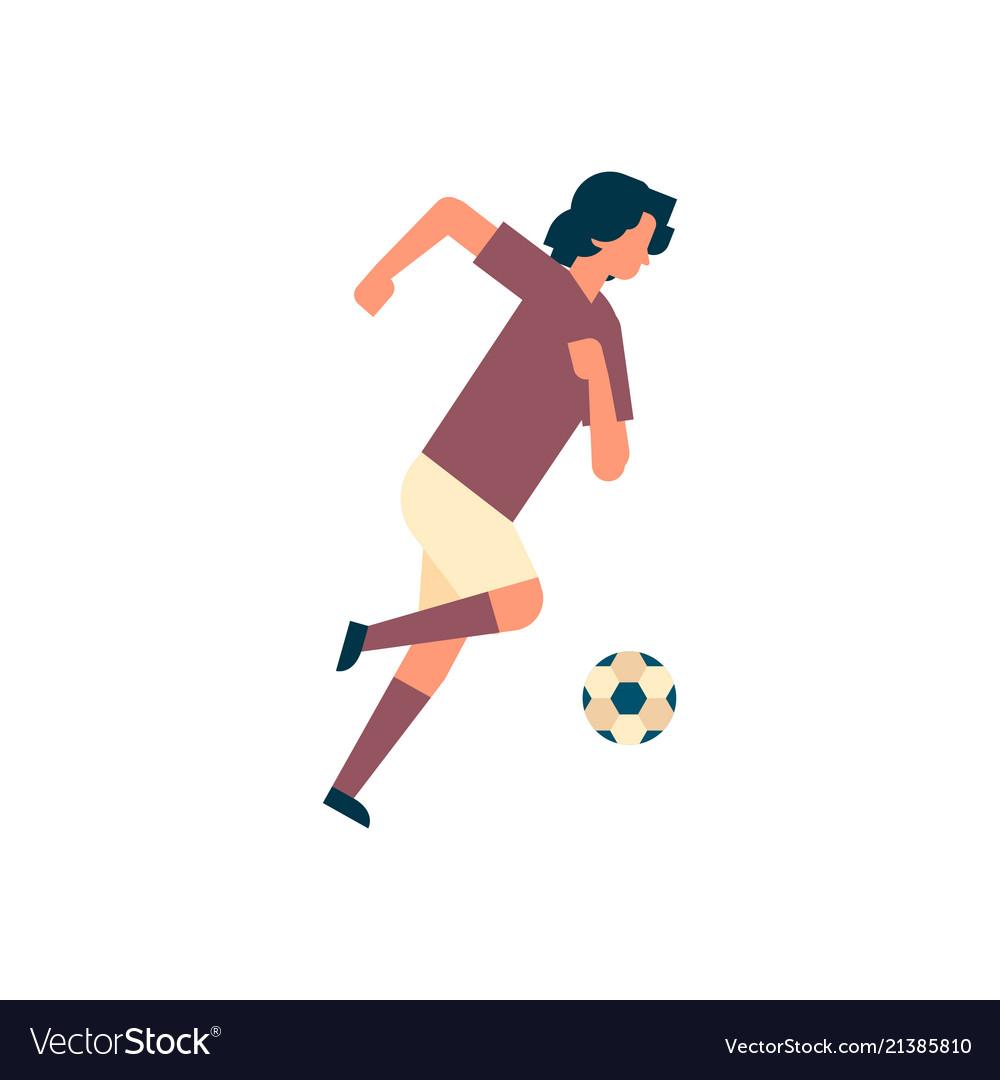 Football player kick ball isolated sport