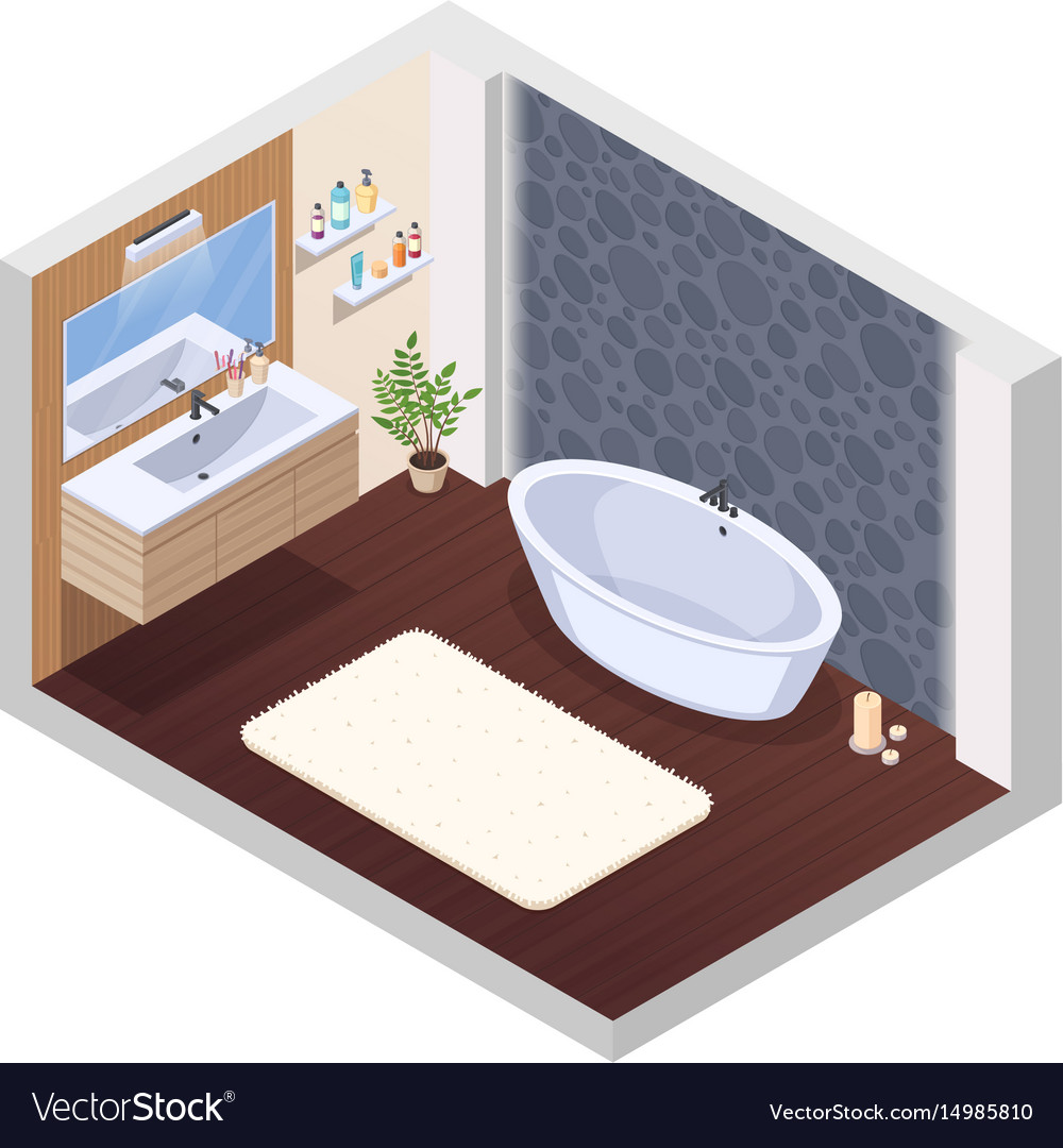 Hot Tub Bathroom Interior