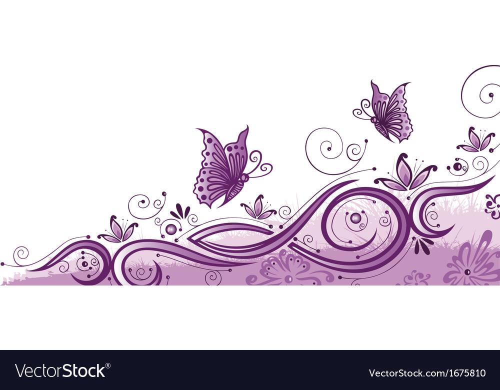 Purple border vector image