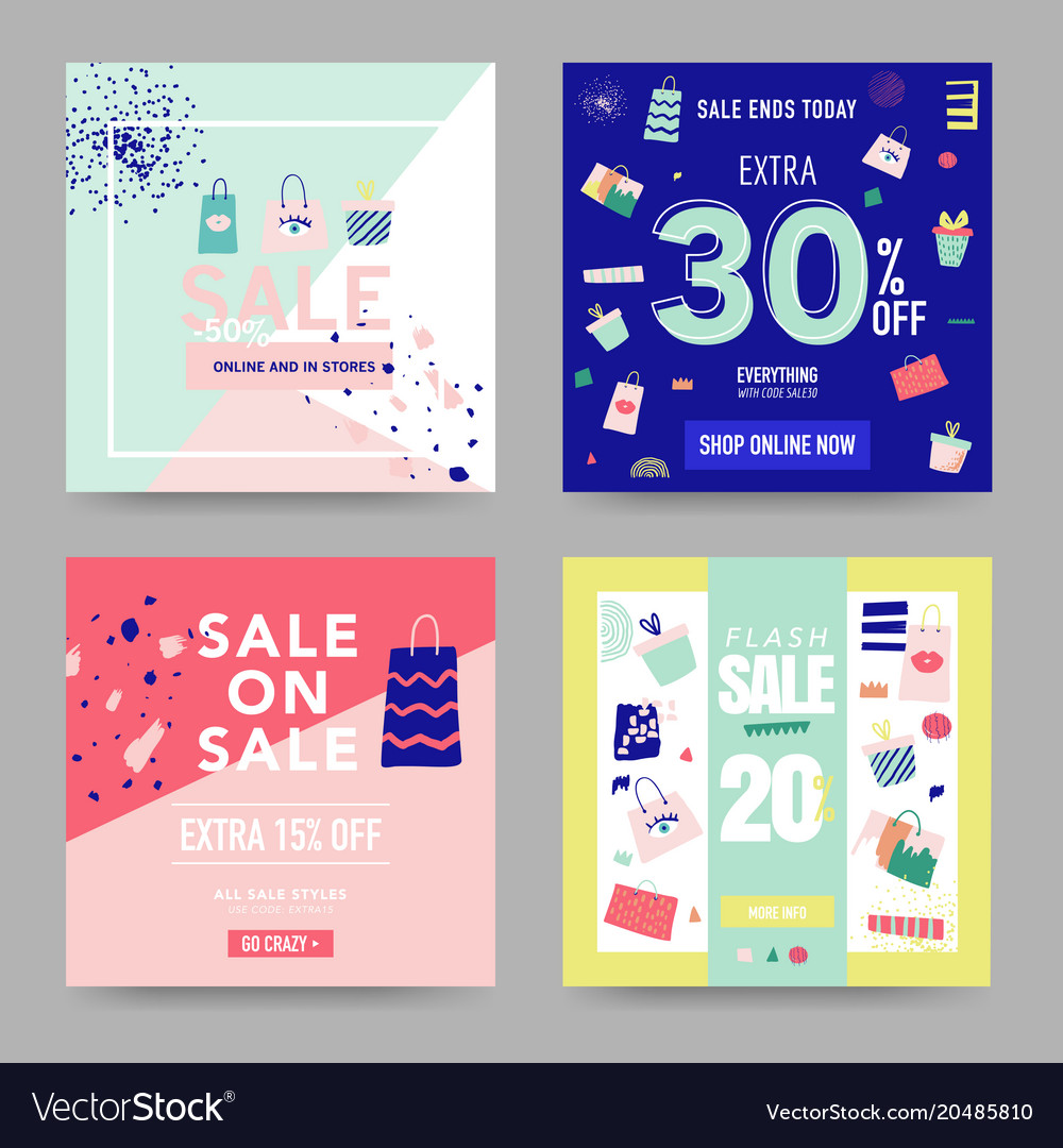 sale banner templates discount poster promo vector image