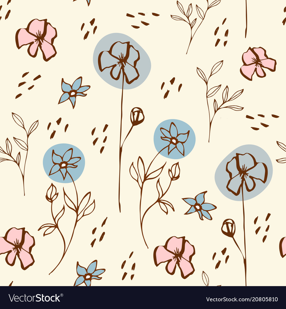 Seamless pattern with floral morifs