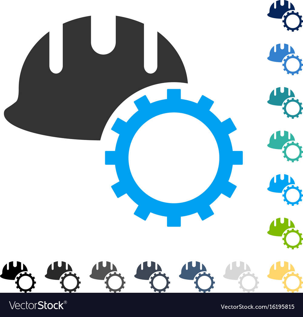 Development hardhat icon vector image