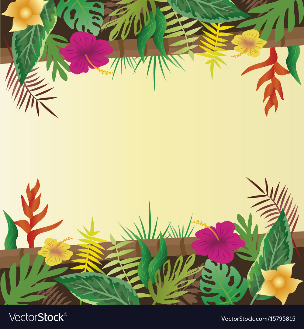 Flower and leaves with copy space background