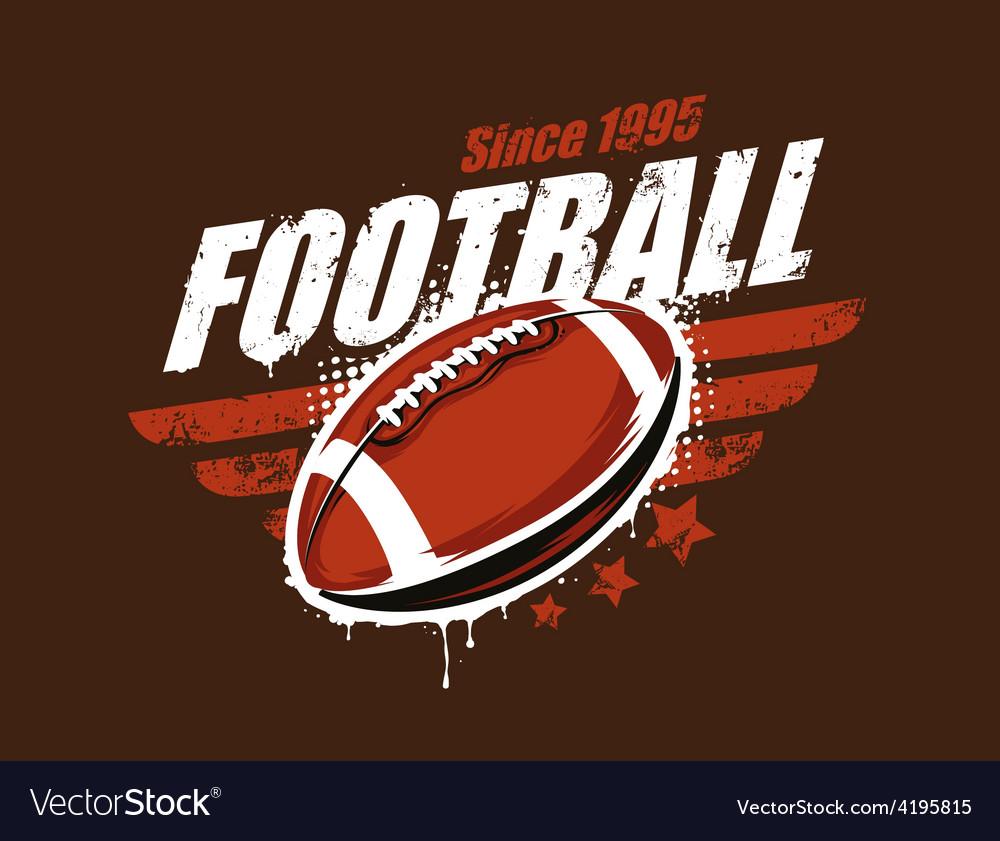 Football Art vector image