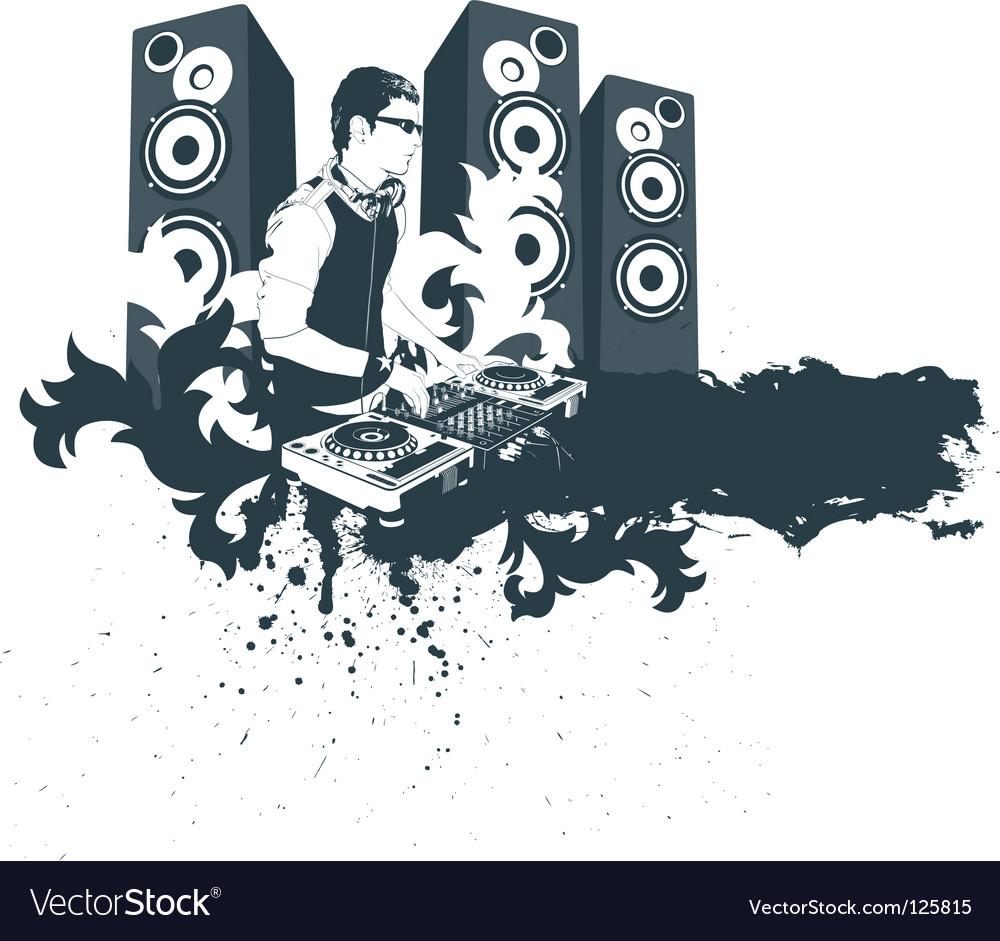 modern dj royalty free vector image vectorstock rh vectorstock com dj victoriouz dj victor ny