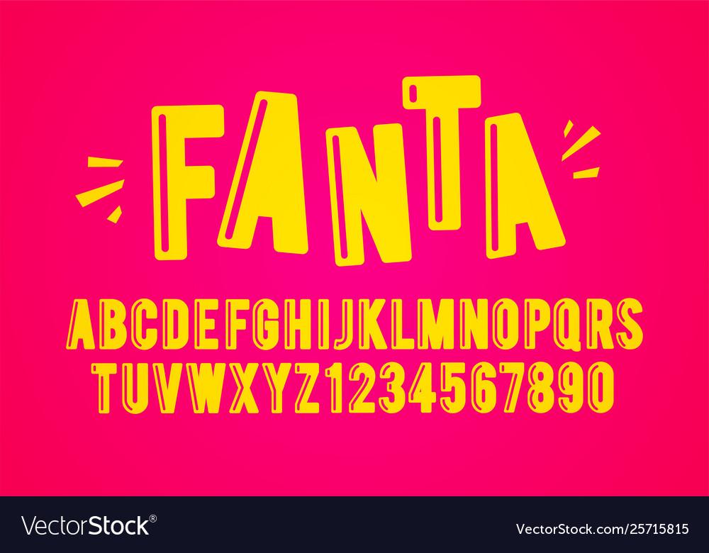 Modern playful fun font and alphabet