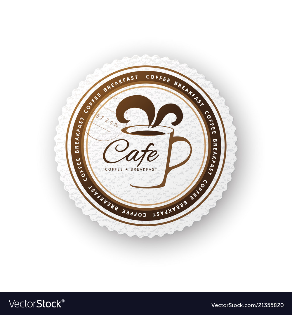 Cafe round sign
