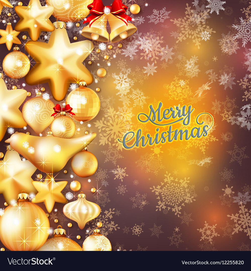 Christmas Background Template Eps 10 Vector Image