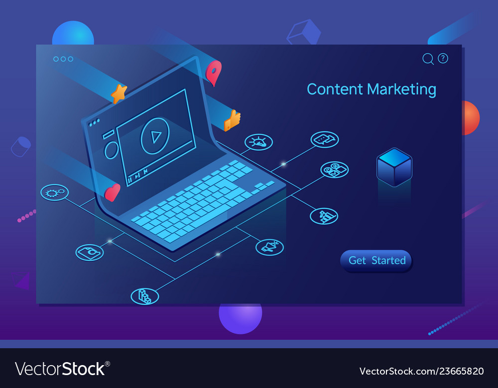 Content marketing blogging and smm concept