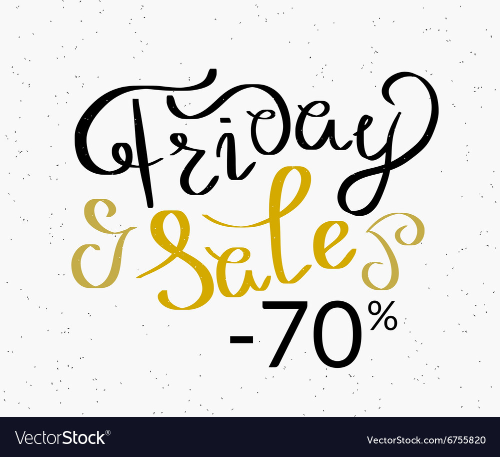 Friday sale hand made script design template