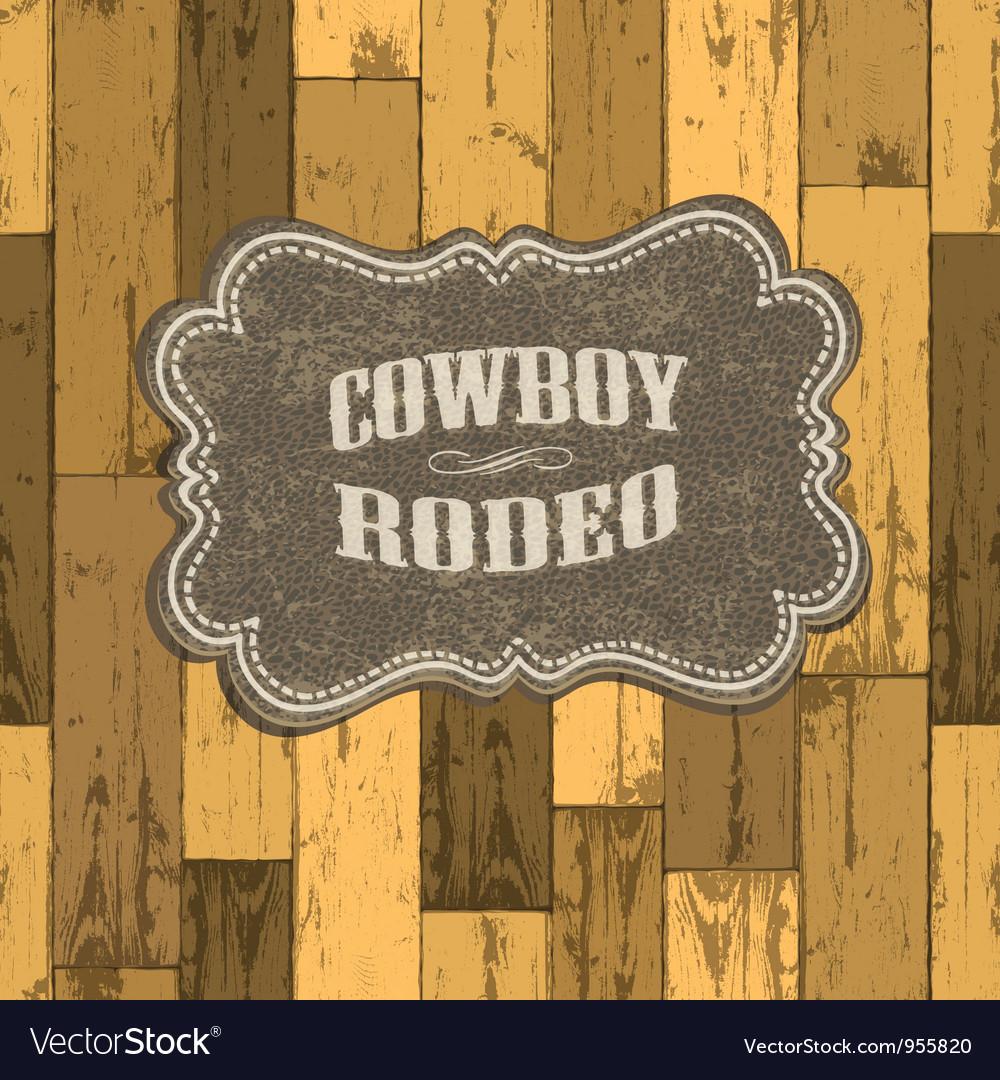 Wild west background vector image