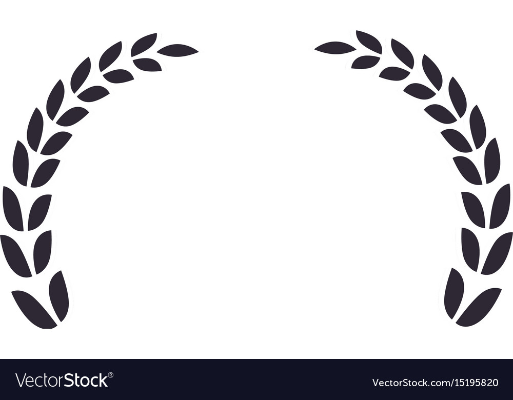 wreath leaves ornament royalty free vector image vectorstock