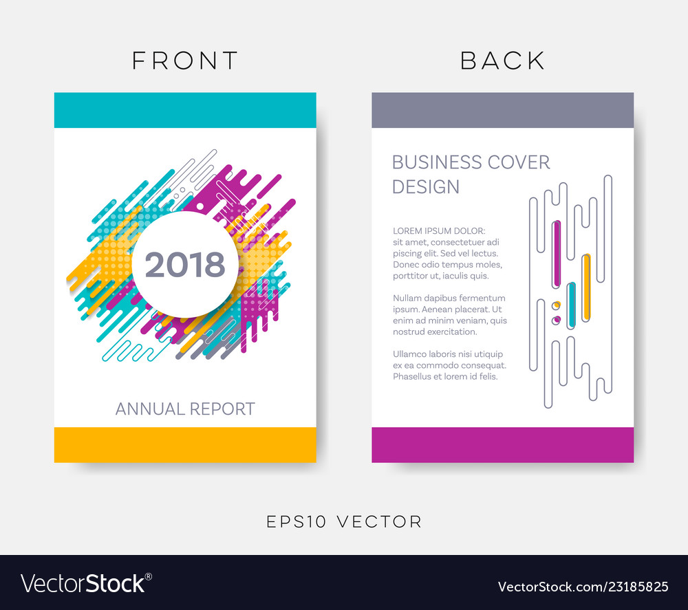 Abstract annual report or brochure design