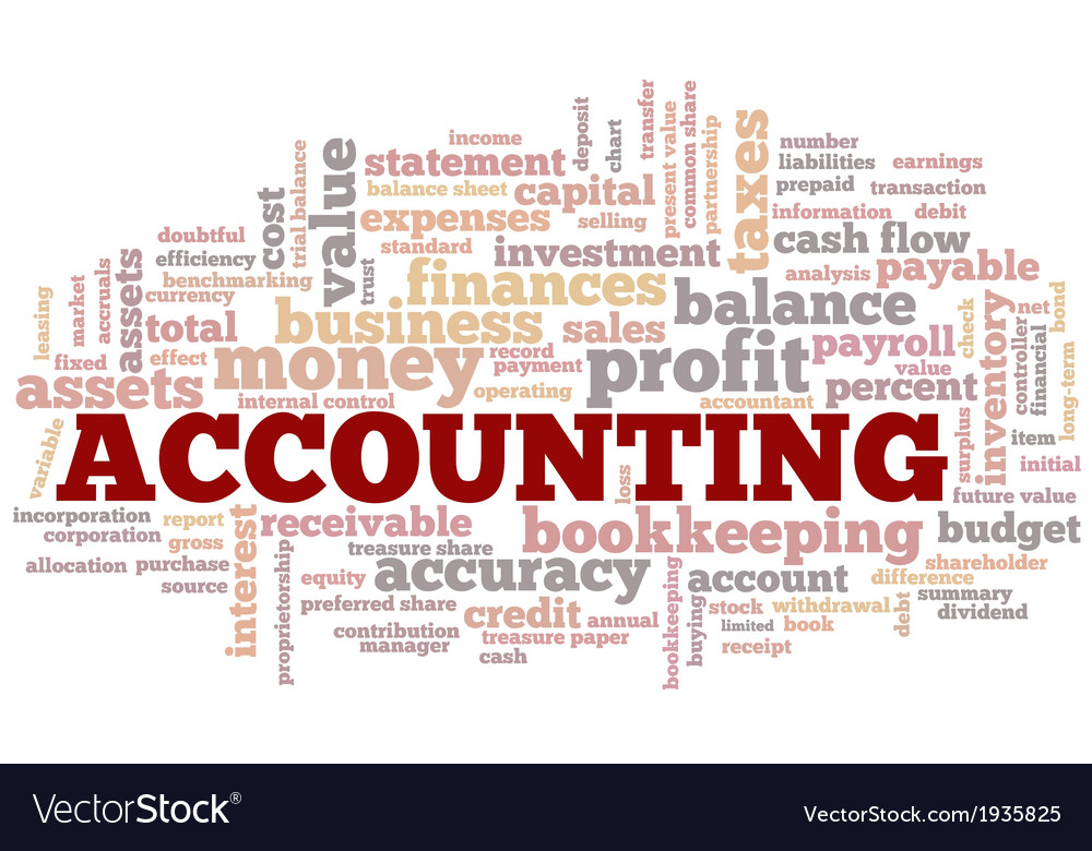 accounting word cloud word bubble tags tree vector image