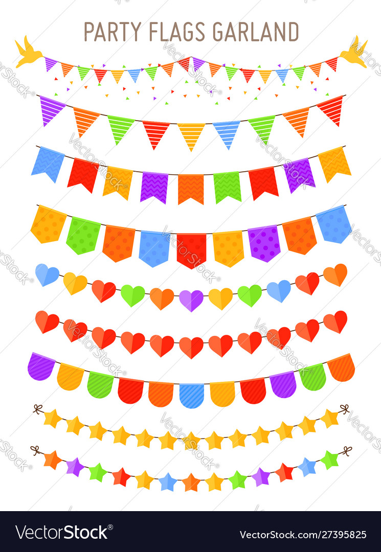 Bunting party flag garlands