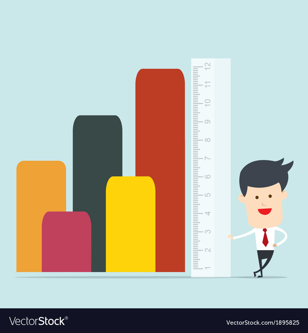 Business man use ruler measure vector image