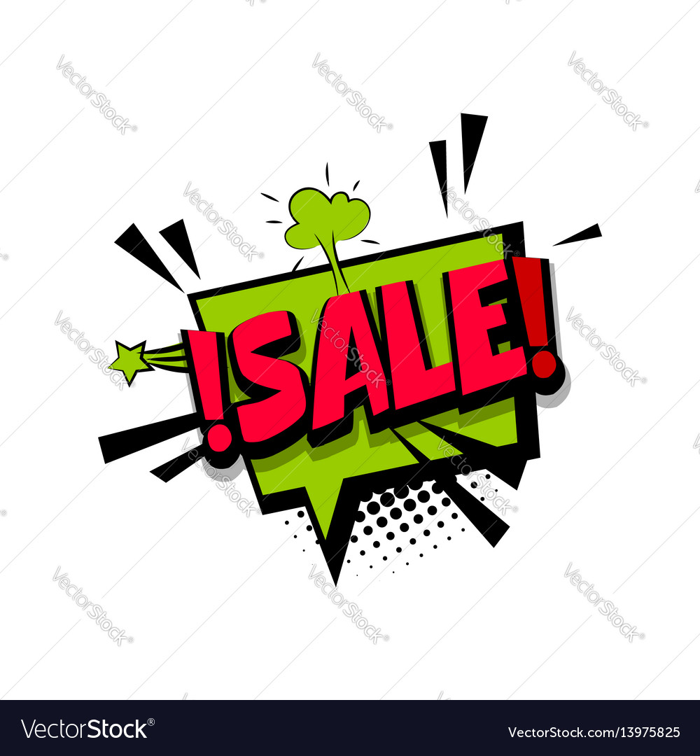 Colored comic text sale tag discount
