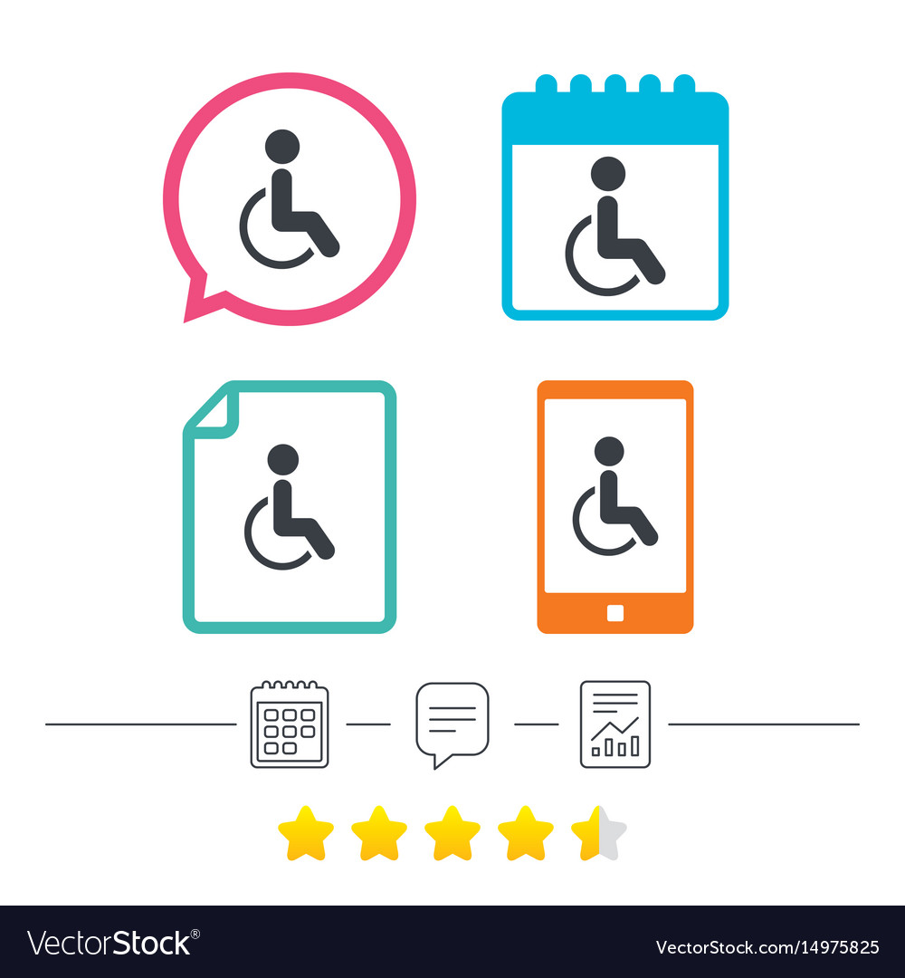 Disabled sign icon human on wheelchair symbol