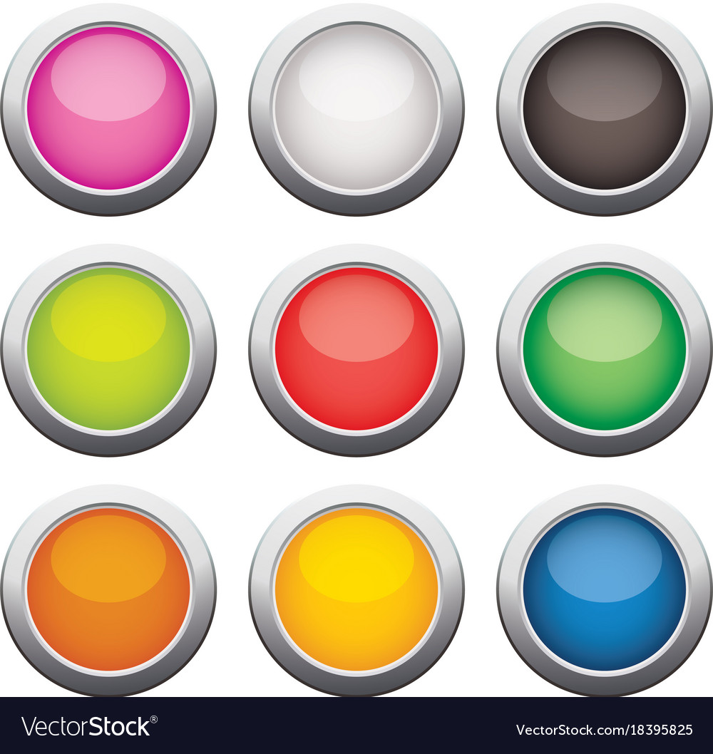 Glossy glass buttons