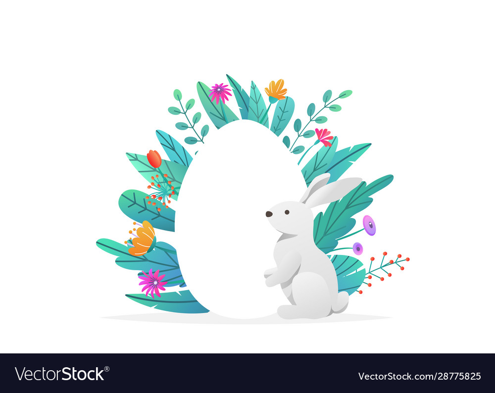 Happy easter background isolated on white holiday