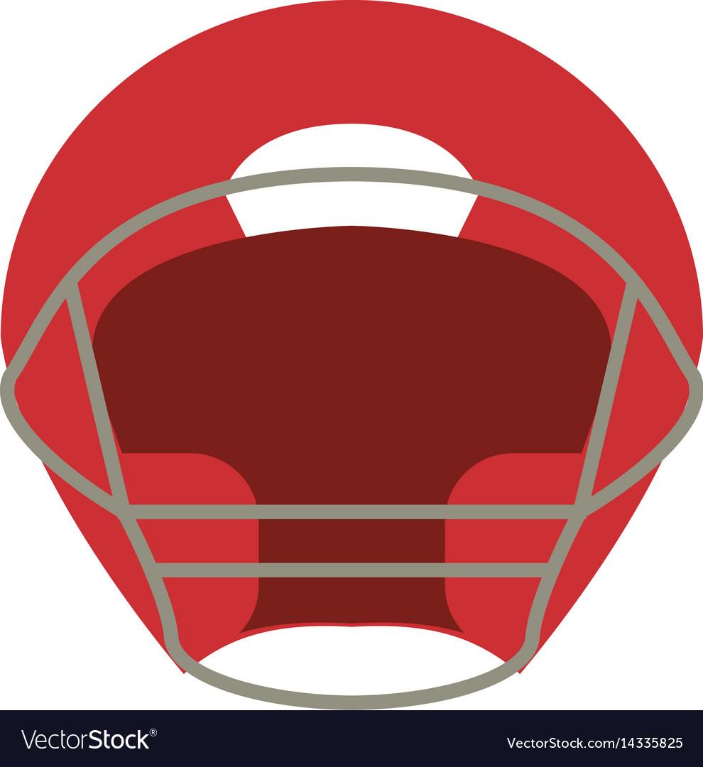 Helmet american football front view vector image