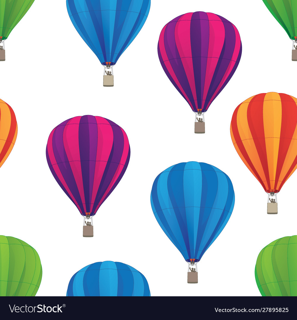 Hot air balloon seamless repeating pattern