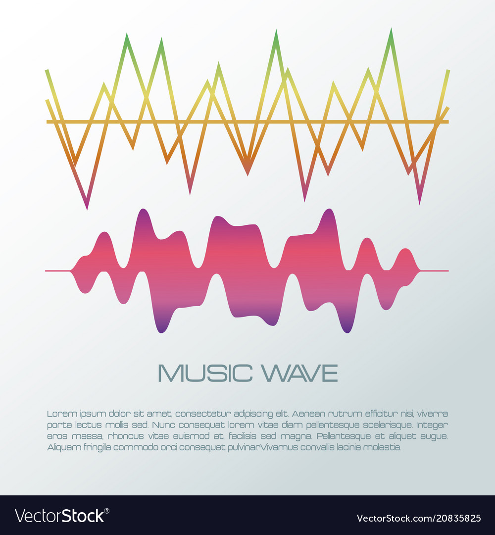 Music wave infographic
