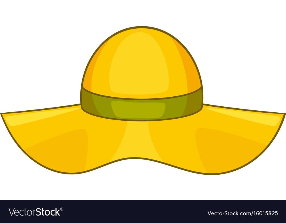 Sun hat icon cartoon style vector image