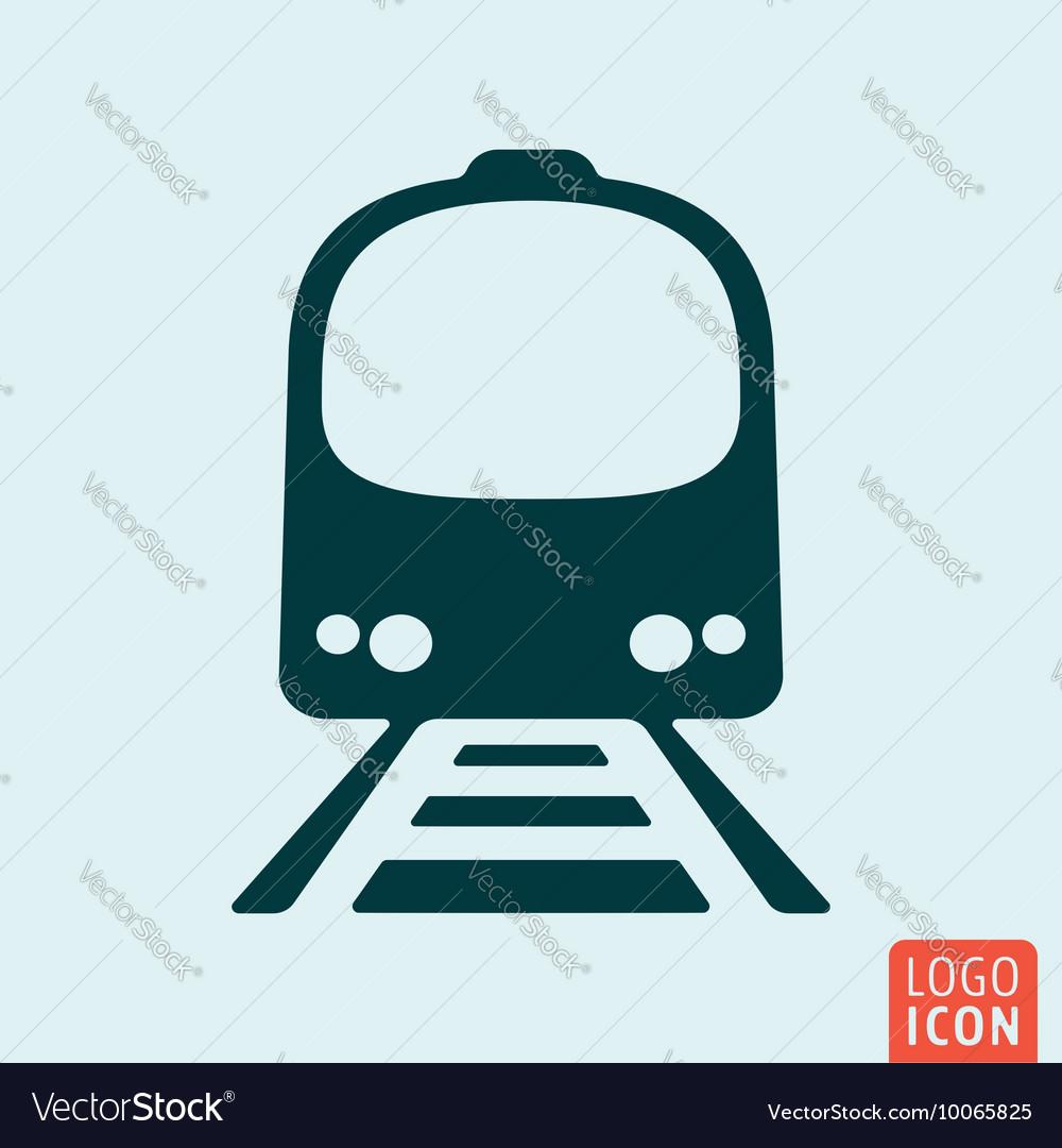 Train icon isolated